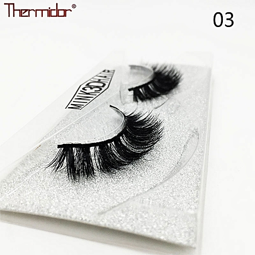83153050c5d Generic 3D Mink Eyelashes Thick Real Mink Messy Professional Make up Korean  Natural False Lashes Reusable Extention(3)