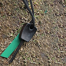 Outdoor Survival Magnesium Flints Scraper Stone Fire Starter Lighter Kit   1pc