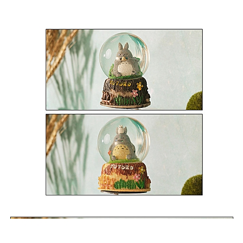 Dragon Cat Music Crystal Ball Music Box Eight Music Box with Snowflakes  Rotating Student's Birthday Gift