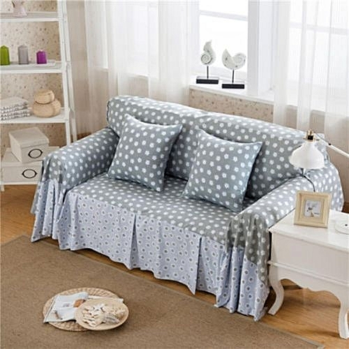 Linen Flower Sofa Cover 4 Seat Slipcover Couch Furniture Protector Washable