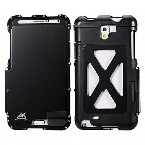 online retailer 0f784 8b5c8 R-just Armor King Stainless Steel Flip Phone Cover Metal Case Aluminum  Cases For Galaxy Note 2 - Black (Color:c0)