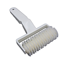 Plastic Pizza Pastry Lattice Roller Cutter Pull Net Wheel for Dough Cookie Pie white  L