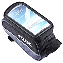 CBR 008 EVA Outdoor Portable Front Beam Bag Pouch for Bicycle Bike Cycling Gray