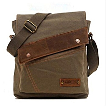 2016 New AUGUR Fashion Men's Casual Canvas Crossbody Bags Travel Messenger Shoulder Hiking Bags(Army Green)