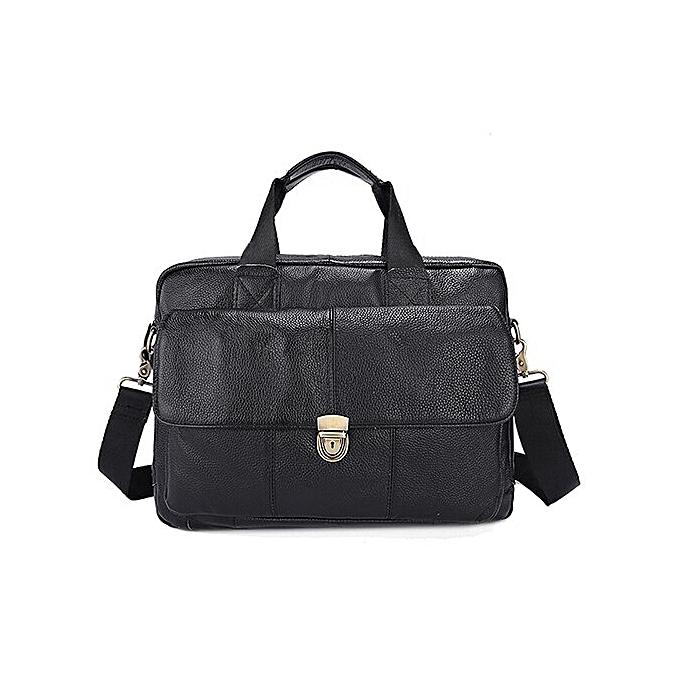 55b01497b803 2019 Business Mens Leather Bag 14'' Laptop Tote Briefcases for Men  Crossbody Shoulder Handbag Male Messenger Bag Men 315(315A2Black)