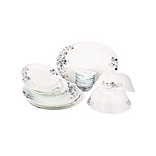 38 Pieces Dinner Set- White
