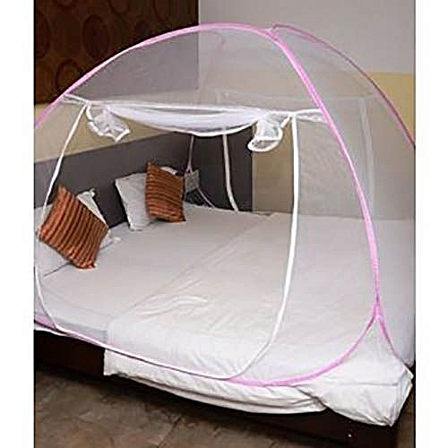 Generic On The Bed Tent Like Mosquito Net 6x6 Pink