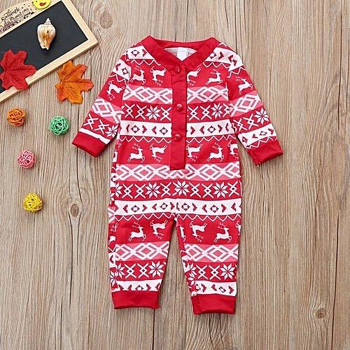 91161627916c Eissely Infant Baby Boy Girl Deer Pajamas Romper Jumpsuit Christmas ...