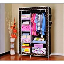 XLIN Metal Shelves And Dustproof Non-woven Fabric Wardrobe