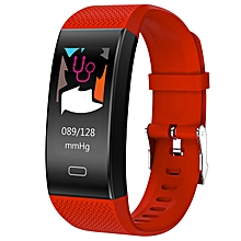 TenFifteen TF6 Smart Bracelet 0.96 inch Color Screen Heart Rate / Blood Pressure / Sleep Monitor Pedometer Sedentary Reminder Anti-lost - RED