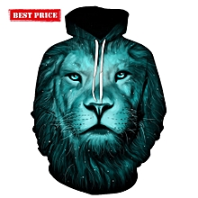 3D Lion Galaxy Print Pullover Hoodie-COLORMIX