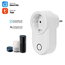 Home Socket WIFI Smart Socket EU Plug Wireless Outlet Support Timing Function Phone APP Remote Control Voice Control Compatible with Amazon Alexa/Echo&Google Home,White 1 Pack