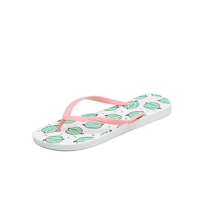 731582326e6fca Refined Women Beach Flip Flops Cartoon Fruit Summer Fashion Slippers Ladies  Comfy Shoes Woman Home Flat ...