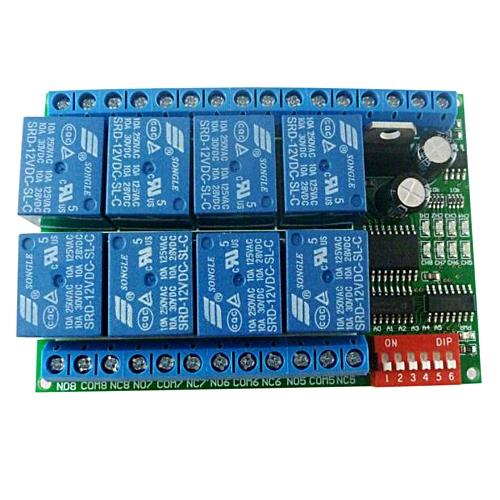 12V 8CH RS485 Relay Modbus RTU Protocol Serial Port Remote Control Switch  for PLC Control Board
