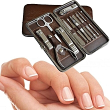 Stainless Steel Manicure Pedicure Ear Pick Nail-Clippers Set 12 In 1