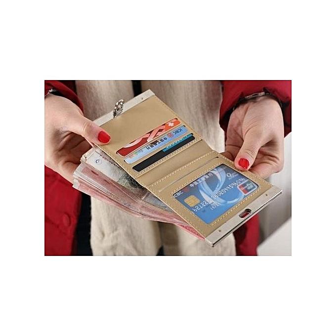 ... Olivaren Lady Women Ultrathin Mini Purse Leather Wallet Credit Card Holder Bags GiftBeige