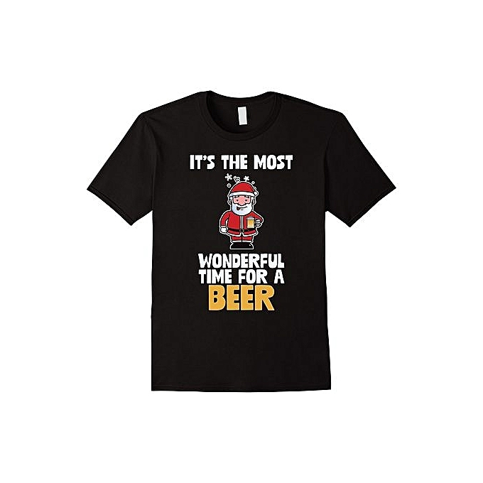 254b8bd3a Fashion Men's T-Shirt It's The Most Wonderful Time For A Beer Funny Santa T