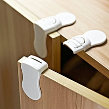 5 pieces Child Proofing Drawer Lock, Self Locking prevent fingers pinching