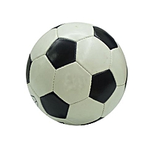 Official FIFA Size 5 Football LEATHER Soccer Football profession - Black & White