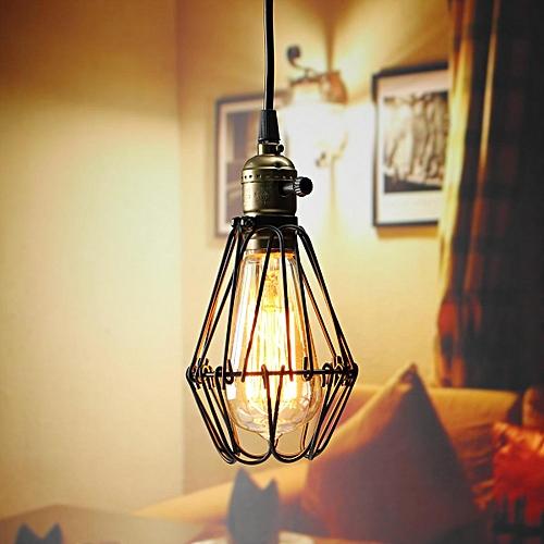 Retro Vintage Pendant Celling Light Bulb Hanging Lamp Shade Holder