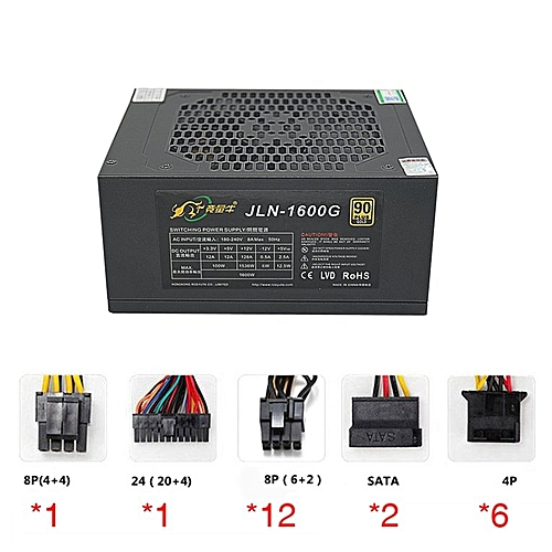 Buy Generic HP-Roeyuta JLN-1600G 1600W Miner Power Supply for ETH ...