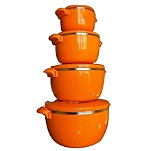 4pc HotPot/Seving Dishes Set - Orange