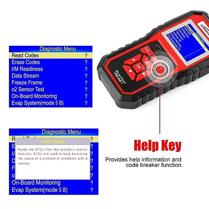 OBDII Auto Diagnostic Scanner KW850 OBD2 EOBD Full System Scan Tool Best  Check Engine Code Scanner By BDZ