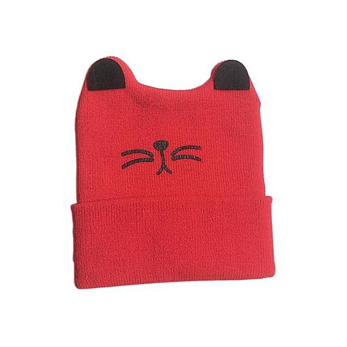417991052fd Braveayong Baby Toddler Kids Boy Girl Knitted Crochet Cat Ear Beanie Winter  Warm Hat Cap RD