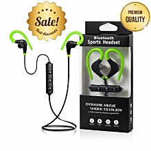 Wireless Bluetooth Earphones Headset ,Sports-Green