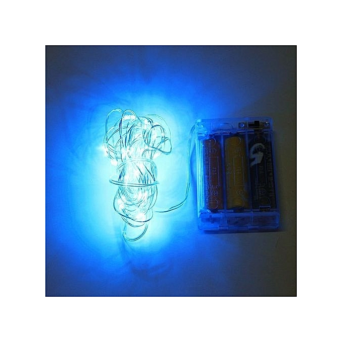 Youoklight 11M Water Resistant Colorful LED Wire String Light - Blue ...