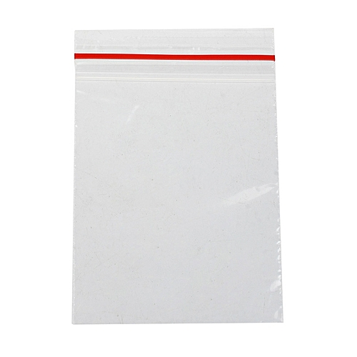 Blue Lans Ziplock Plastic Bags Set Of 100 Clear