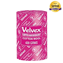 White Cotton Wool - 400 Grams (1 Roll)