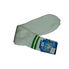 Socks Print- White/D.Gr-