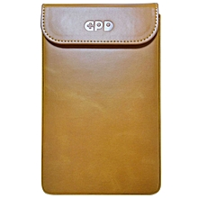 Pocket Pouch Sleeve PU Leather Protective Bag - Brown