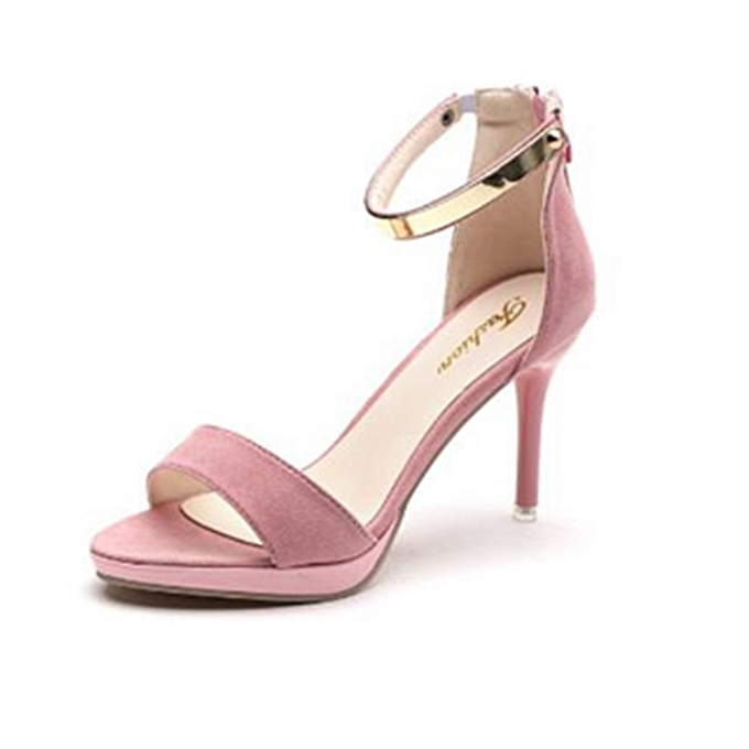 486ad367dfd Fashion Women Shoes Sandals Stiletto High-heeled Platform Pink ...