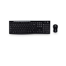 Mk 270 - Wireless Keyboard and Mouse - Black
