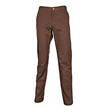 Brown Slim Fit Khaki Pants