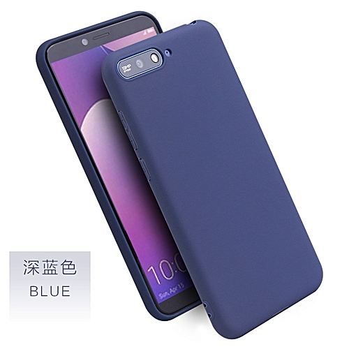 separation shoes a980e d3bbb for Honor 7X case Huawei Candy Color Case Honor Soft Case on Honor-Blue