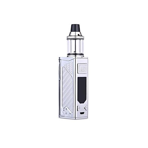 Electronic Cigarette 100W Vape Box Mod 2200mah Evaporator E-cigarettes  Hookah Kits Adjustable vape mod box Starter Kit (silver)