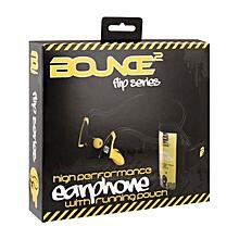 Flip Series Sports Earphones with Mic - Yellow