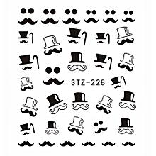 Hequeen  Watermark Nail Stickers Cute Black Cat Nail Art Water Transfer Decal DIY Polish Beauty Nail Decoration Tools