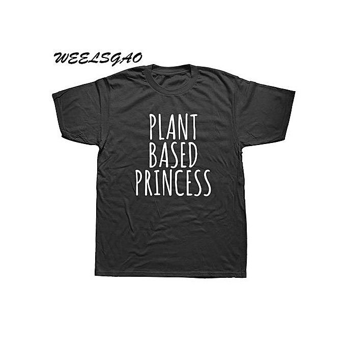 69a6e8bb799f Plant Based Princess Letters Print Men Tshirt Cotton Casual Funny T Shirt  Top Tee