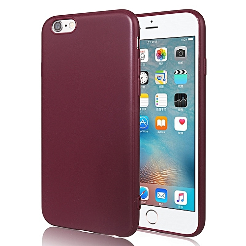 wholesale dealer 8e431 cfdfd for iphone 8 Plus case Cell Phone Case For iPhone Soft silicone Cover-Wine  red