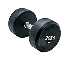 BW-405-20KG - Rubber Dumbbell - 20Kg - Black