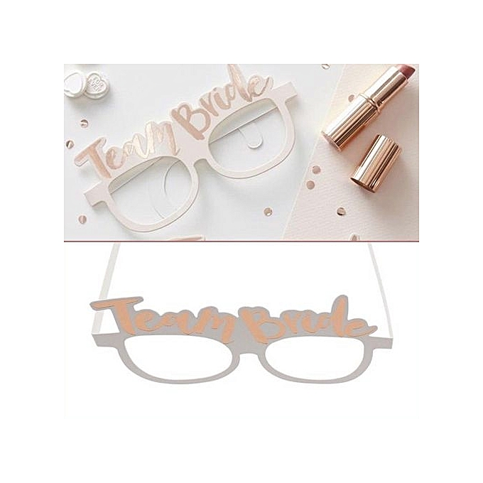 Gles Photo Props Team Bride Beautiful 10pcs Paper Celebrations Booth Ointment Wedding