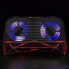 4 In 1 Universal Mobile Phone Game Joystick Grip + Holder Bracket + 2 Cooling Fan + 2000mAh Power Bank For PUBG Black