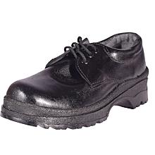 Leather Black Official Unisex School Shoes {BIG SIZES}
