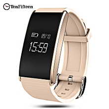 TenFifteen A58 Bluetooth 4.0 Smart Bracelet Blood Oxygen Pressure Measure Fatigue Heart Rate Monitor-GOLDEN