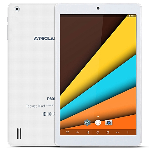 Teclast P80h 8 inch Android 5.1 Tablet PC MTK8163 64bit Quad Core 1.3GHz WXGA IPS Screen 1GB RAM+ 8GB ROM Dual WiFi GPS Bluetooth 4.0WHITE UK PLUG