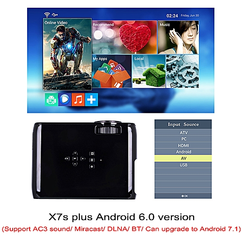 Everycom X7 Mini USB projector android led beamer full hd video portable  home cinema Pocket TV theater video projecteur 3D WOEDB